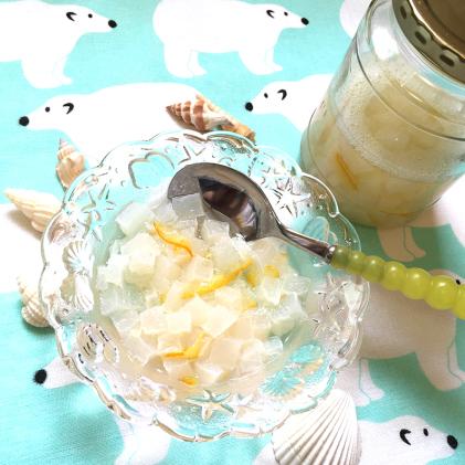 夏の涼感♥白こんデザート